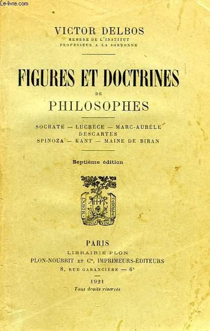 FIGURES ET DOCTRINES DE PHILOSOPHES