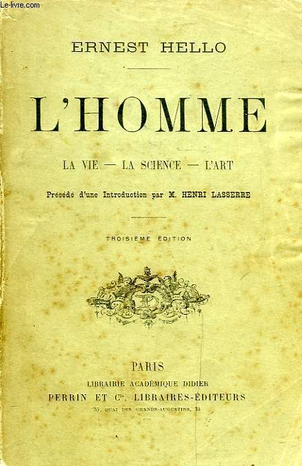 L'HOMME, LA VIE, LA SCIENCE, L'ART