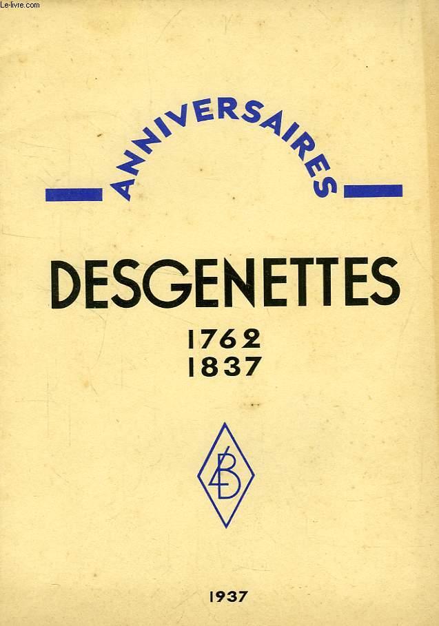 ANNIVERSAIRES, DESGENETTES, 1762-1837