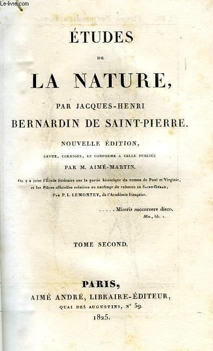 ETUDES DE LA NATURE, TOME II