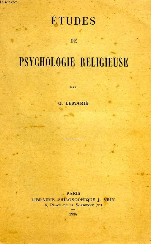 ETUDES DE PSYCHOLOGIE RELIGIEUSE