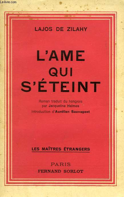 L'AME QUI S'ETEINT