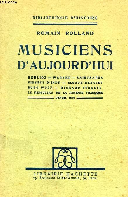 MUSICIENS D'AUJOURD'HUI