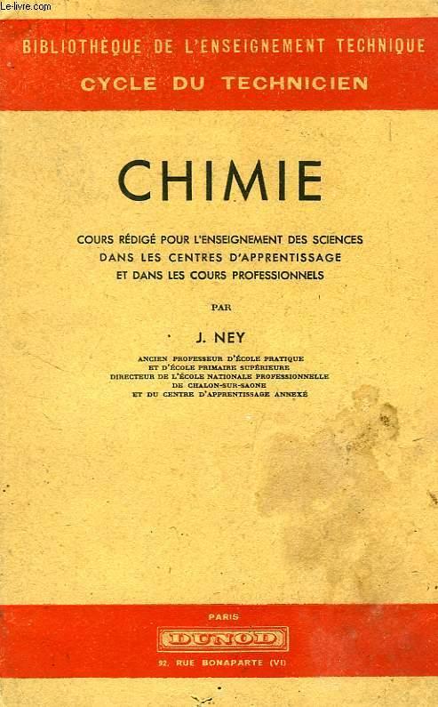 CHIMIE, CENTRES D'APPRENTISSAGE ET COURS PROFESSIONNELS