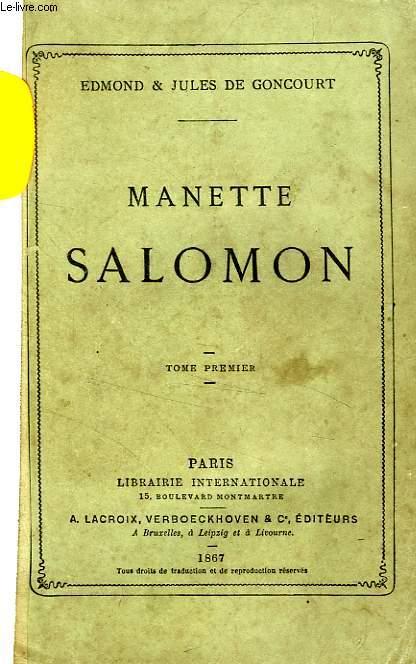 MANETTE SALOMON, 2 TOMES