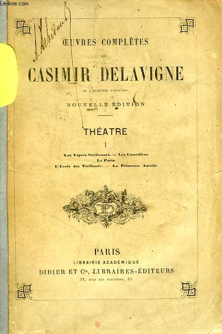 Oeuvres completes, theatre, 3 tomes
