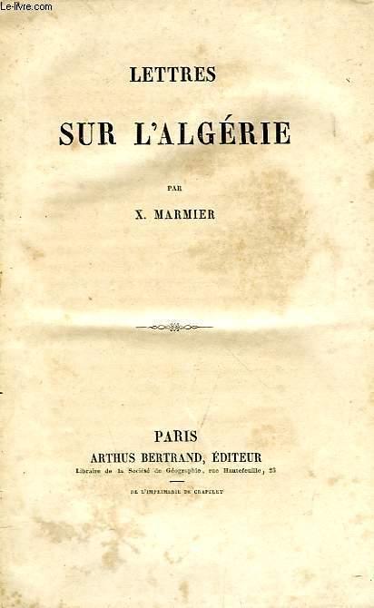 LETTRES SUR L'ALGERIE