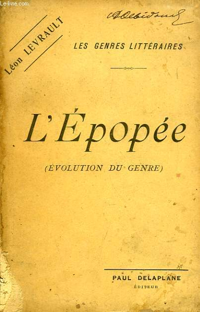 L'EPOPEE (EVOLUTIONDU GENRE)