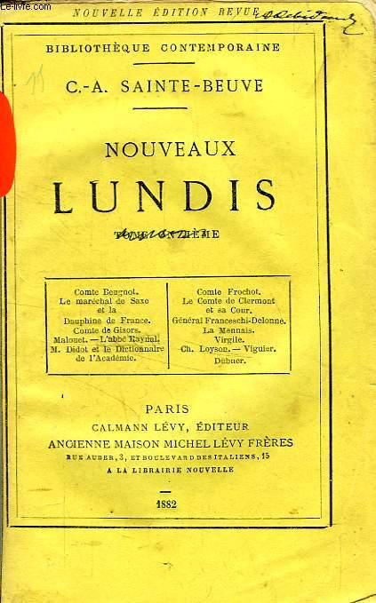 NOUVEAUX LUNDIS, TOME VII