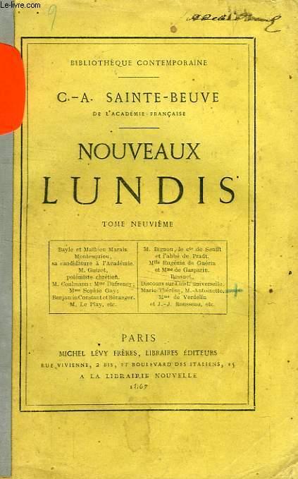 NOUVEAUX LUNDIS, TOME IX