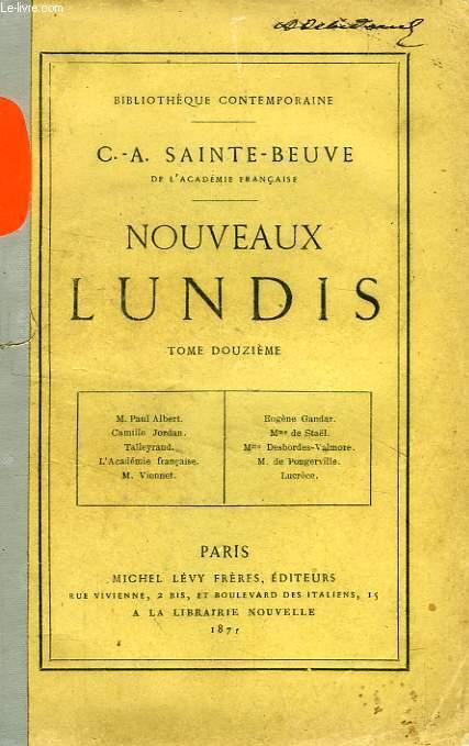 NOUVEAUX LUNDIS, TOME XII