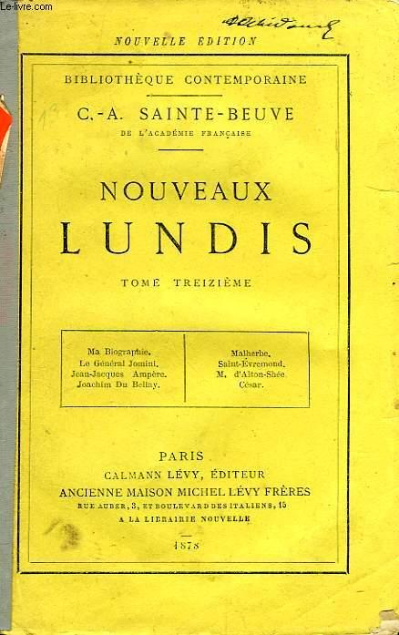 NOUVEAUX LUNDIS, TOME XIII