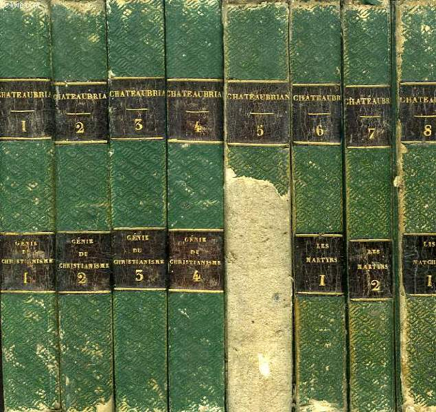 OEUVRES DE M. LE VICOMTE DE CHATEAUBRIAND, 14 TOMES (INCOMPLET)