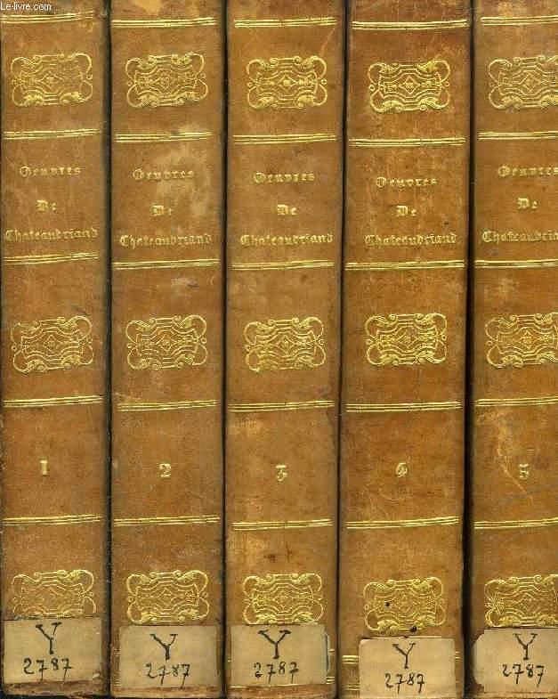 OEUVRES COMPLETES DE M. LE VICOMTE DE CHATEAUBRIAND, EDITION ILLUSTREE, 5 TOMES