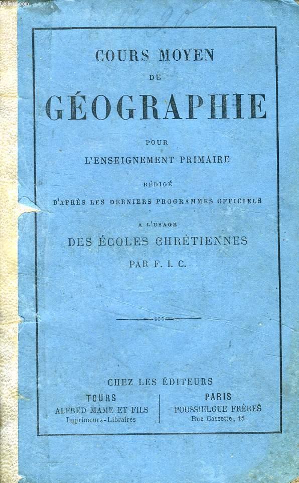 COURS MOYEN DE GEOGRAPHIE POUR L'ENSEIGNEMENT PRIMAIRE