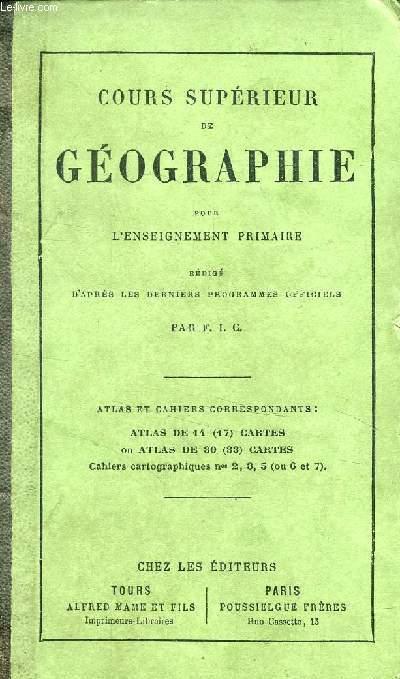 COURS SUPERIEUR DE GEOGRAPHIE POUR L'ENSEIGNEMENT PRIMAIRE