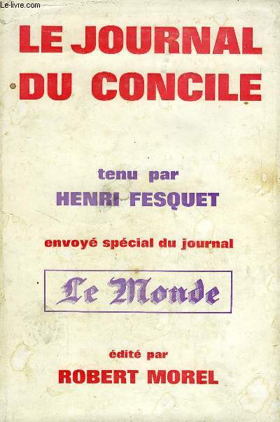 LE JOURNAL DU CONCILE