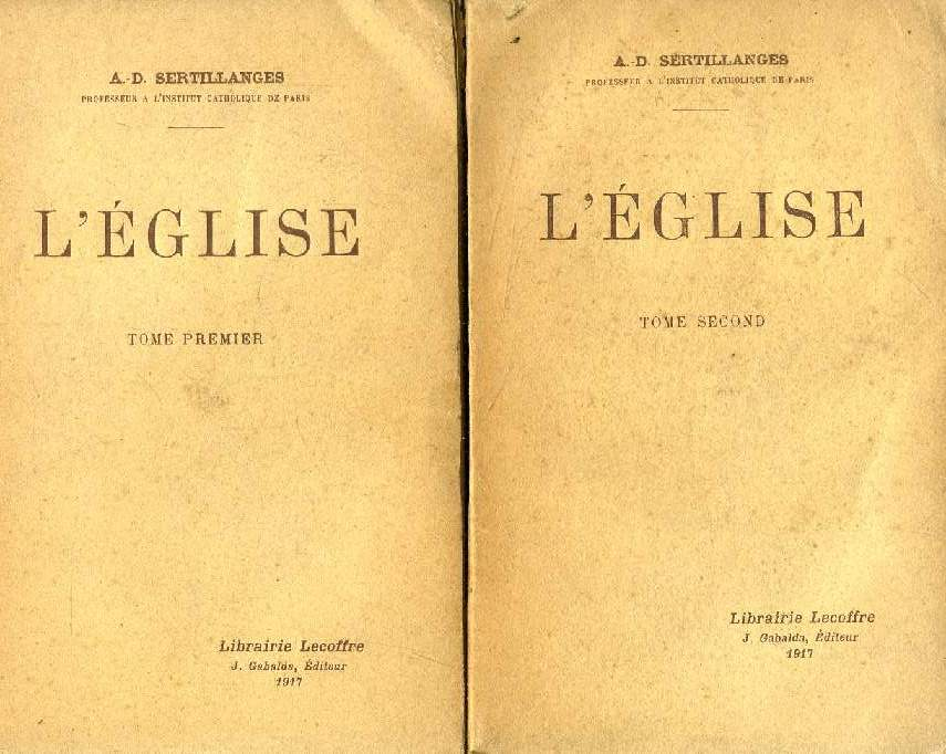 L'EGLISE, 2 TOMES
