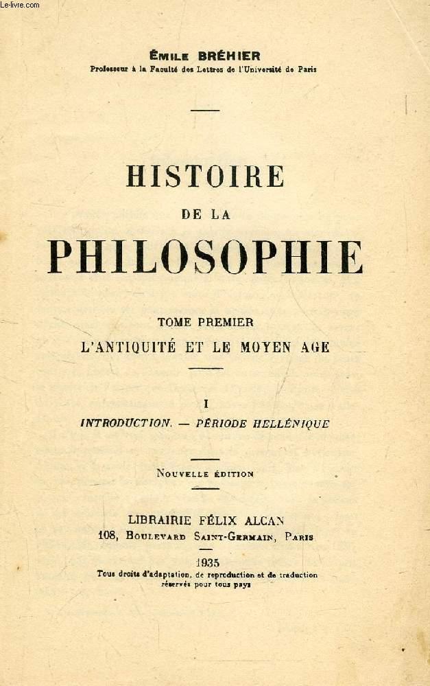 HISTOIRE DE LA PHILOSOPHIE, 7 TOMES