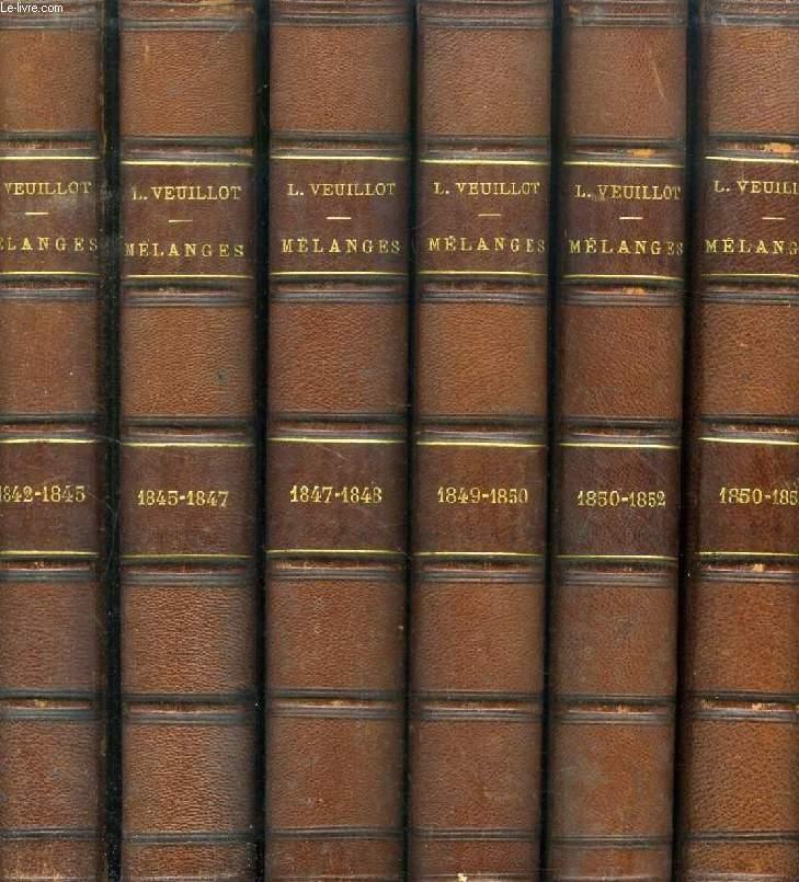 MELANGES RELIGIEUX, HISTORIQUES, POLITIQUES ET LITTERAIRES, 18 VOLUMES (1842-1872)
