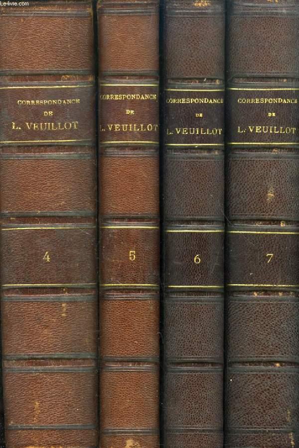 CORRESPONDANCE DE LOUIS VEUILLOT, TOMES IV, V, VI, VII LETTRES A SON FRERE ET A DIVERS