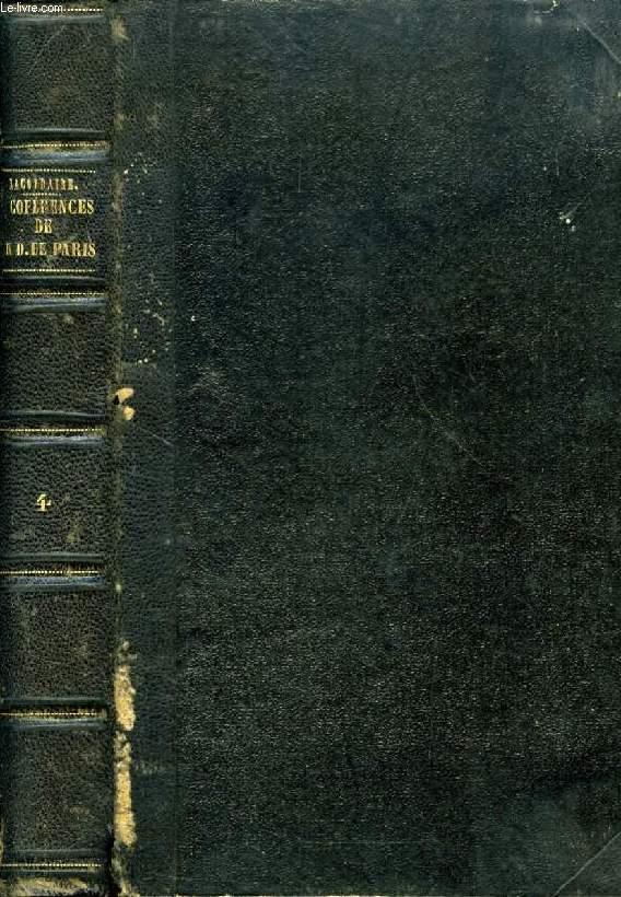 CONFERENCES DE NOTRE-DAME DE PARIS, TOME IV, ANNEE 1851
