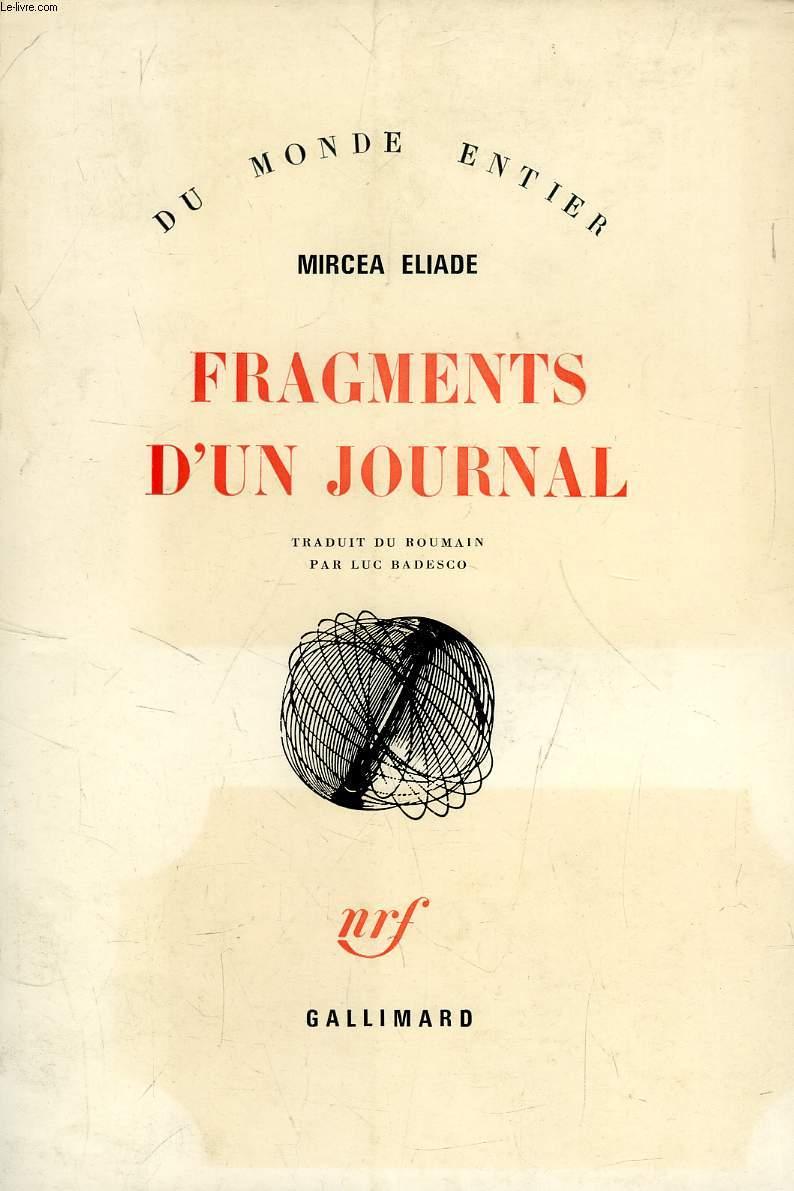 FRAGMENTS D'UN JOURNAL