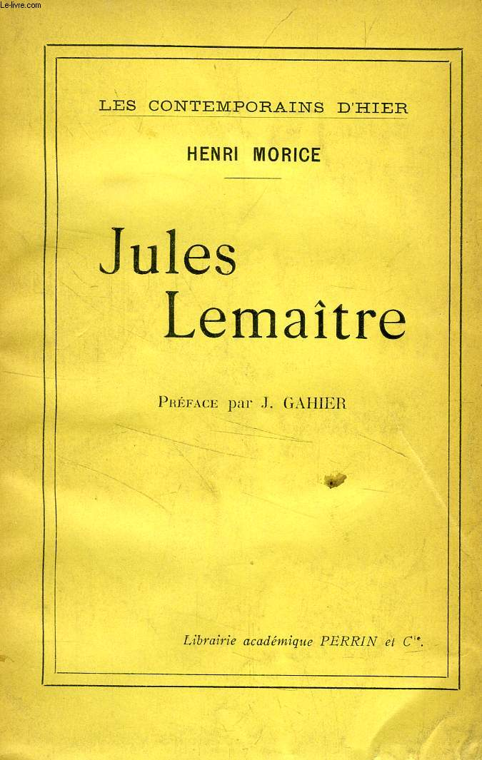 JULES LEMAITRE