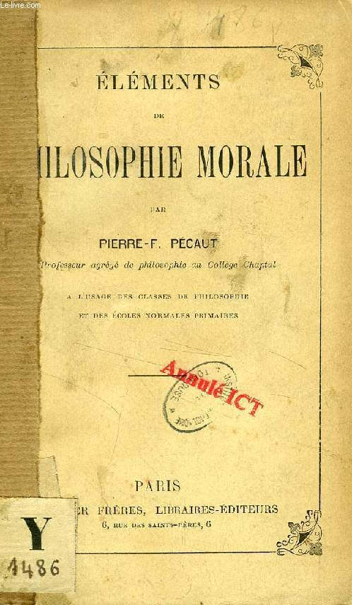ELEMENTS DE PHILOSOPHIE MORALE
