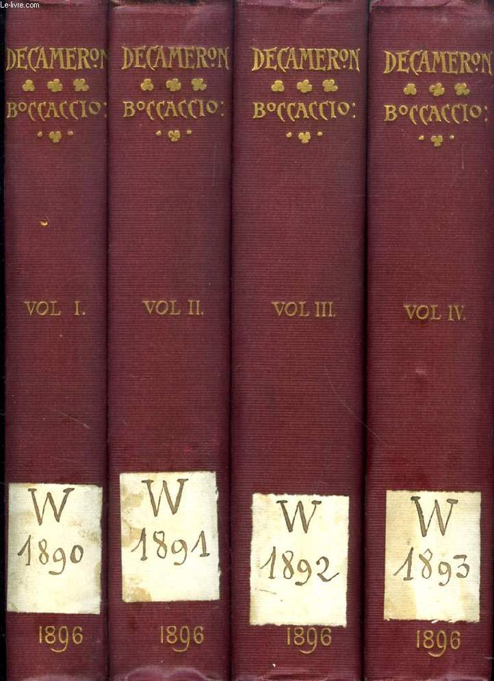 THE DECAMERON, 4 VOLUMES (COMPLETE)