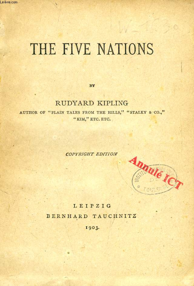 THE FIVE NATIONS (COLLECTION OF BRITISH AUTHORS, VOL. 3689)