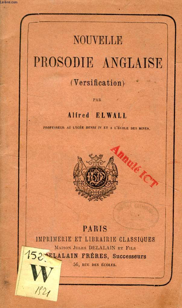 NOUVELLE PROSODIE ANGLAISE (VERSIFICATION)