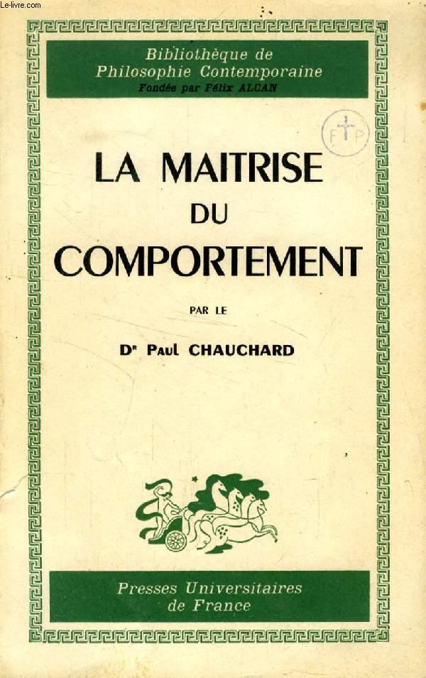 LA MAITRISE DU COMPORTEMENT
