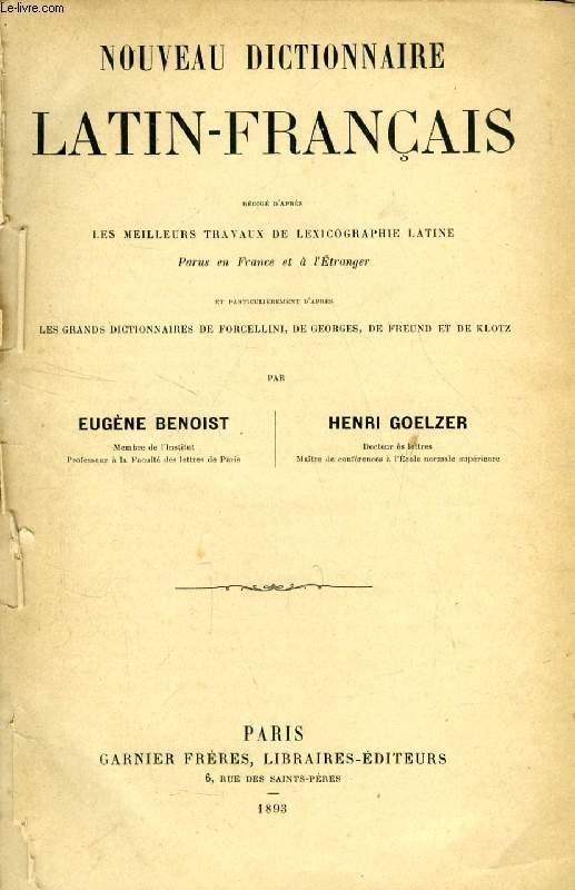 NOUVEAU DICTIONNAIRE LATIN-FRANCAIS