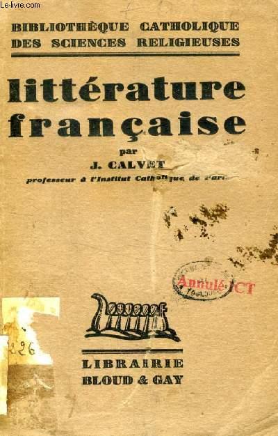 LITTERATURE FRANCAISE