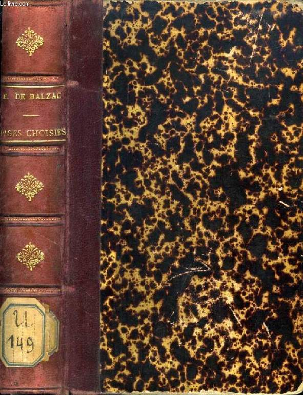 PAGES CHOISIES DES GRANDS ECRIVAINS, H. DE BALZAC