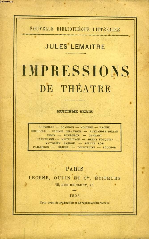 IMPRESSIONS DE THEATRE, 8e SERIE