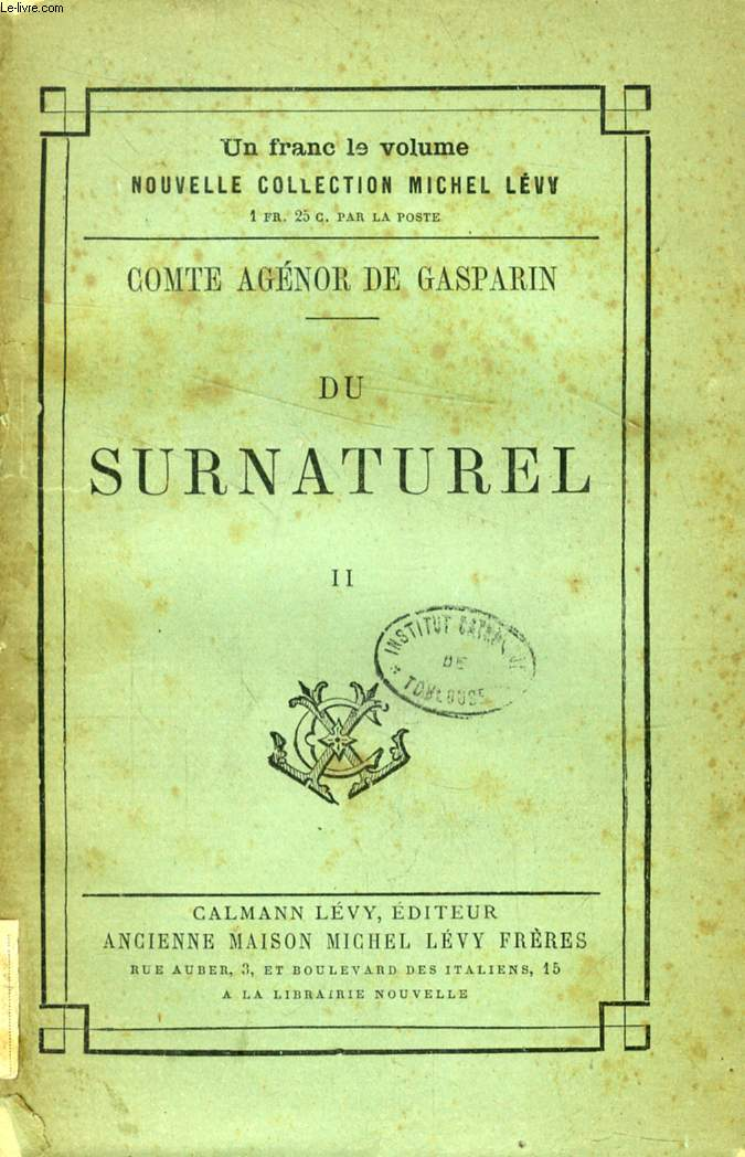 DU SURNATUREL, TOME II