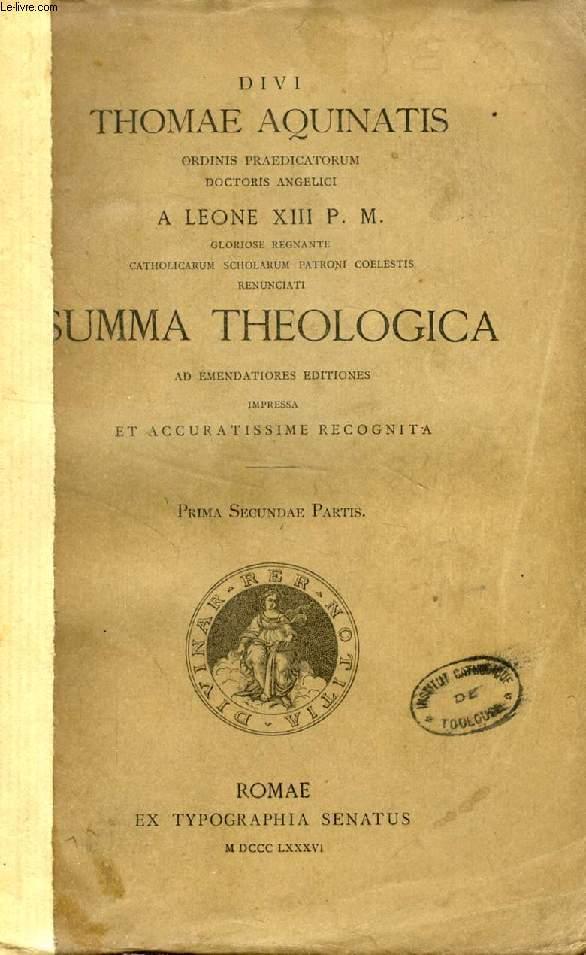 DIVI THOMAE AQUINATIS SUMMA THEOLOGICA, PRIMA, SECUNDAE, TERTIAE PARTIS, SUPPLEMENTUM (2 VOL.)