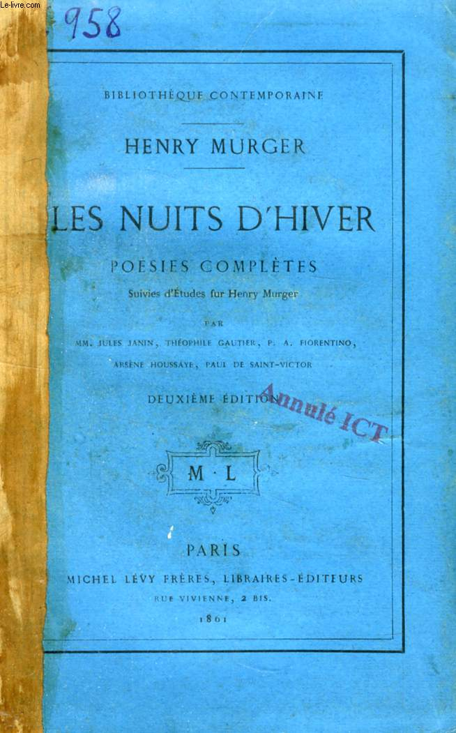 LES NUITS D'HIVER, POESIES COMPLETES