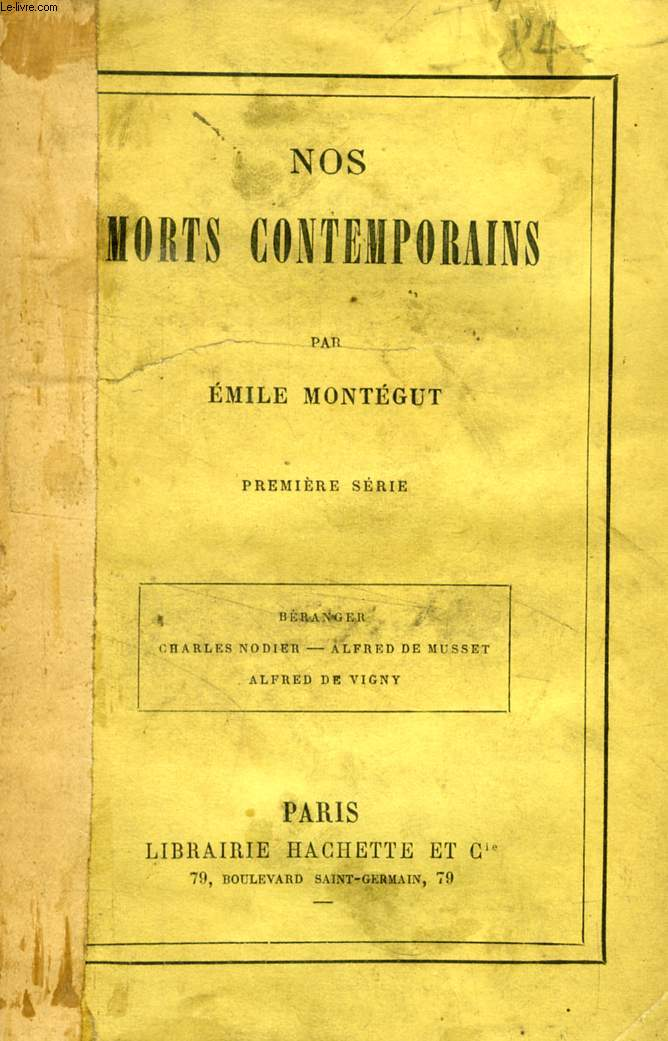 NOS MORTS CONTEMPORAINS, 2 TOMES (SERIES)