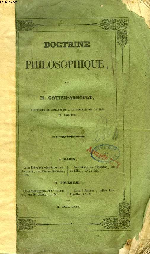 DOCTRINE PHILOSOPHIQUE