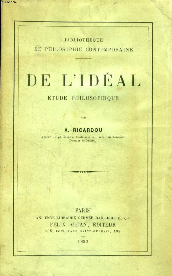 DE L'IDEAL, ETUDE PHILOSOPHIQUE