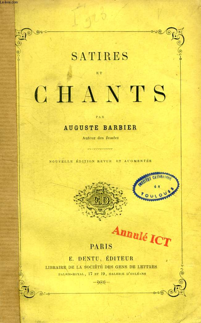 SATIRES ET CHANTS