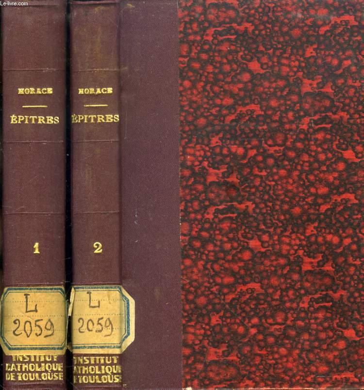 EPITRES ET ART POETIQUE D'HORACE, EDITION POLYGLOTTE, 2 TOMES