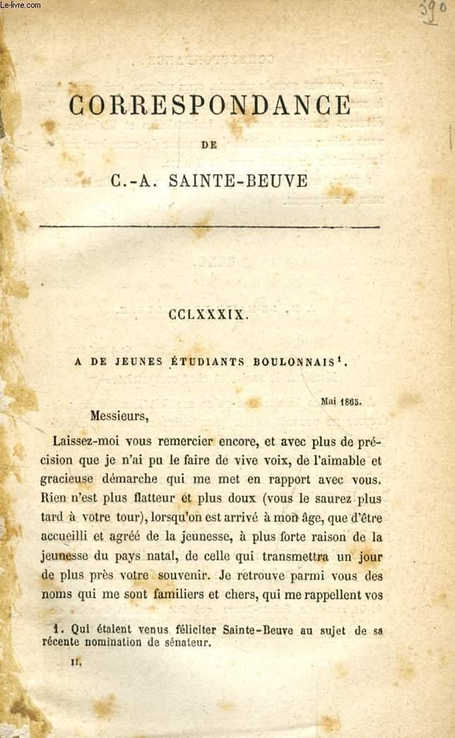 CORRESPONDANCE DE C.-A. SAINTE-BEUVE (TOME II)