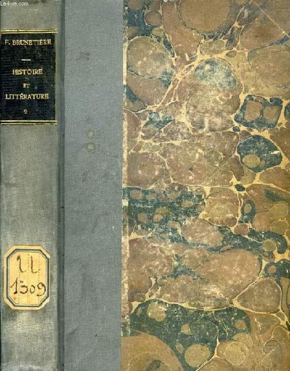 HISTOIRE ET LITTERATURE, TOME II