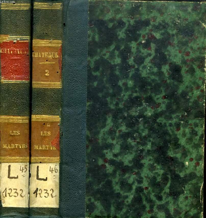 LES MARTYRS, 2 TOMES (OEUVRES DE M. LE VICOMTE DE CHATEAUBRIAND)