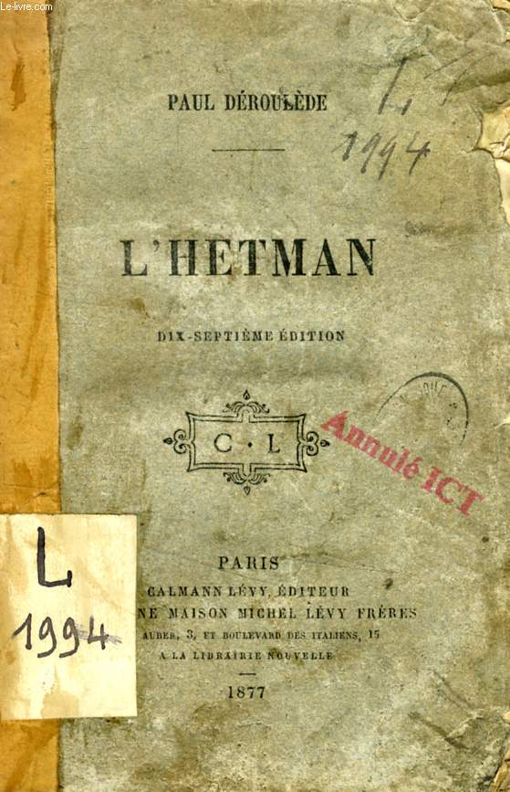 L'HETMAN, DRAME EN 5 ACTES EN VERS