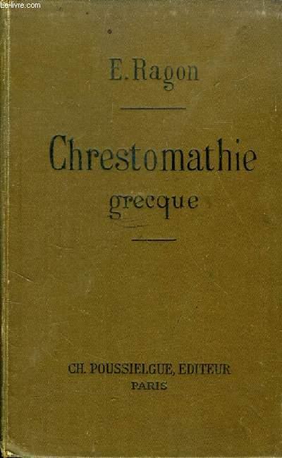CHRESTOMATHIE GRECQUE, CONTENANT TOUS LES MOTS USUELS DE LA PROSE CLASSIQUE